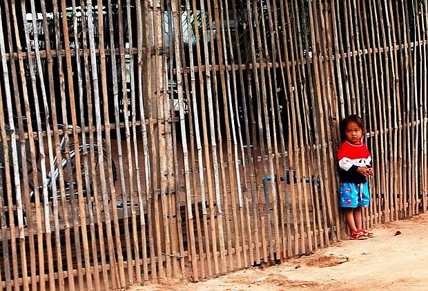 Girl at Silk Village, Cambodia