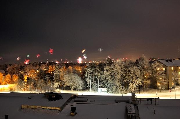 Fireworks in Stockholm